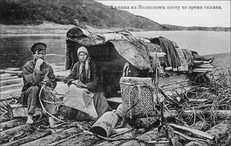 Хижина-на-Плоту-Волга-1900-е