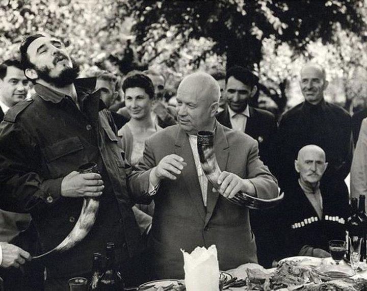 Хрущев и Кастро, 1963