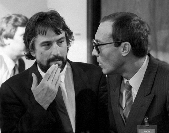 Роберт Де Ниро и Олег Янковский, 1987